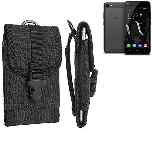bolsa del cinturón / funda para Wiko Jerry, negro | caja del teléfono cubierta protectora bolso - K-S-Trade (TM)