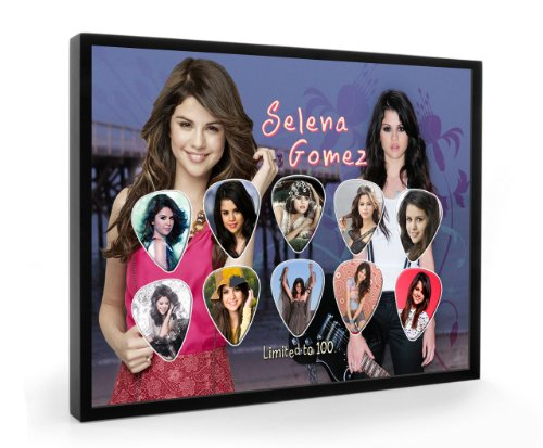 Selina Gomez Limited to 100 Framed Guitar Plectrum Display