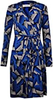 Calvin Klein Women's Printed Belted Jersey Wrap Dress