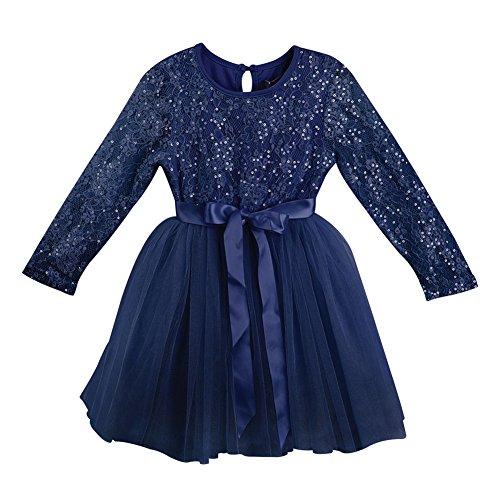 Designer Kidz Baby Girls Navy Glitter Matilda Tutu Christmas Dress 6-12M