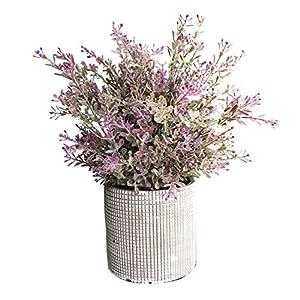Cyrra Bathroom Vanity Decor Ideas Indoor Artificial Grass Plants for Shelf Nandina (Aglaia Odorata Lavender S)