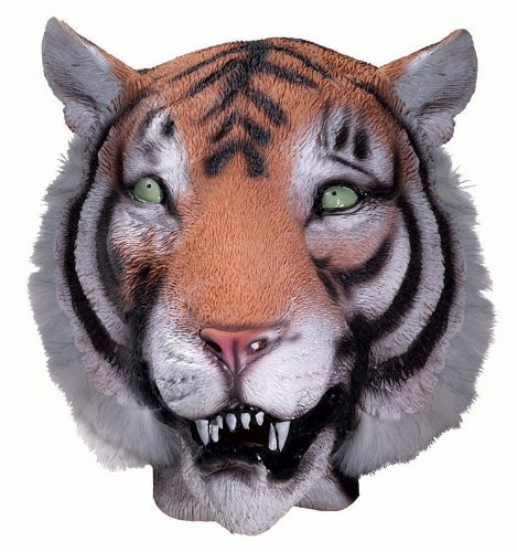 Mask Halloween Party Miami (Forum Novelties Tiger Mask : Deluxe Latex Animal)