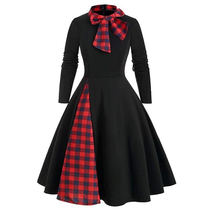 Amyline Vestido De Línea De Estilo Clásico De Rockabilly De La ...