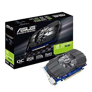 ASUS PH-GT1030-O2G GeForce GT 1030 2GB GDDR5 - Tarjeta gráfica (NVIDIA, GeForce GT 1030, 1920 x 1200 Pixeles, 1252 MHz, 1506 MHz, 2 GB)