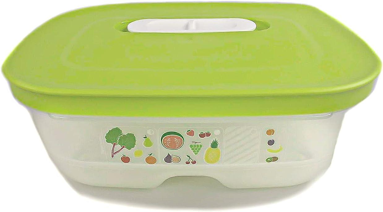 Tupperware Klimaoase Primaklima Fridgesmart Plus - Food Storage Container - Fridge-Safe - 800 Ml - Green