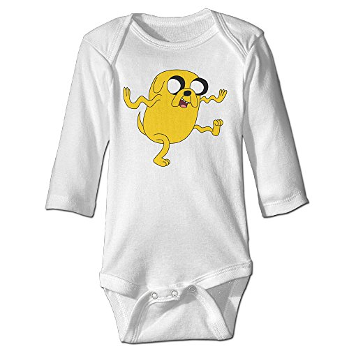 Raymond Adventure Time Long Sleeve Romper Bodysuit Outfits White 18 Months