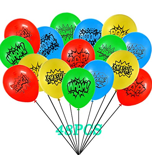 48 Pack Kids Party Balloons Party Supplies, Birthday Party Favors for Kids Theme Party Decorations -