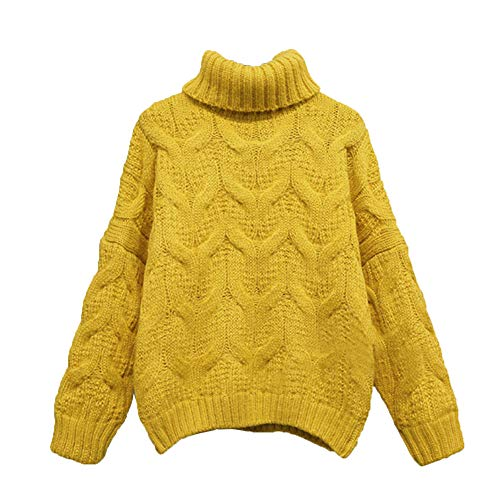 versione yellow Donna Allentata Da Maglione Manica Yellow Maglione Capo Lxyiun 8qw4StPTq