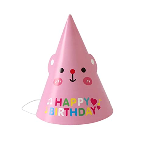 2663cfe95c26e Amazon.com: Remeehi 18pcs Party Birthday Hat DIY Paper Hats For ...