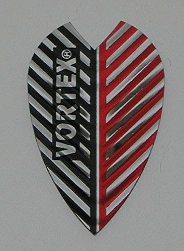 Vortex Flights - Harrows - 3 sets (9 flights) Vortex, Red/Black, Dart Flights - Larger Size