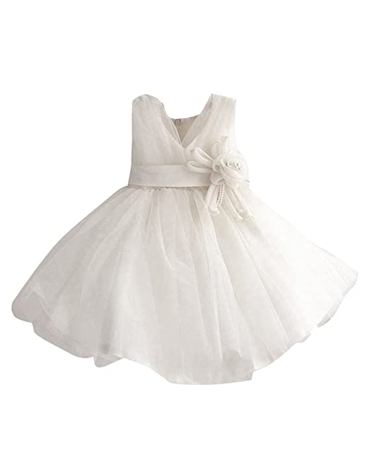 Tul Vestido De Princesa Fiestas Boda Para Niñas Vestidos Elegantes De Noche Blanco 90