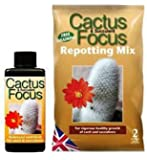 Cactus Focus Repotting Mix 2L and 100ml Cactus Focus Nutrient Feed