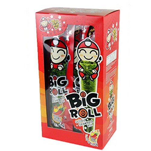 Tao Kae Noi Big Roll Crispy Grilled Seaweed Roll Spicy Flavour 9 Packets Per Box - 3 Boxes