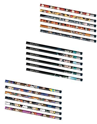 Harry Potter Pencil Sets Bundle: 3 Sets of 6 (18 Pencils)
