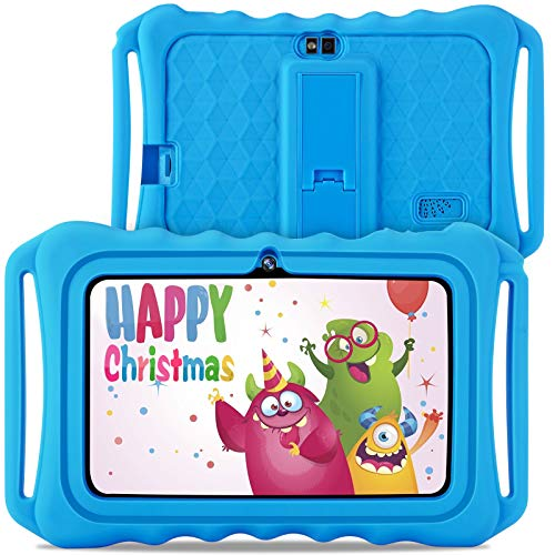 GBD Kids Tablet with WiFi,7 Inch IPS HD Display, Quad Core Android 9.0, 2MP Dual Camera,16GB ROM, Kids Software Pre…