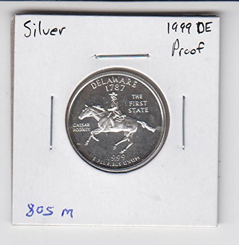 1999 S Washington SILVER Proof Quarter - Delaware - 50 State Quarter Choice Uncirculated (Silver Quarter State 50)