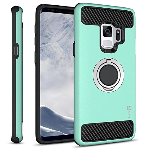 Galaxy S9 Ring Case, CoverON RingCase Series Protective Hybrid Phone Cover with...
