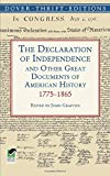 img - for The Declaration of Independence and Other Great Documents of American History 1775-1865 (Dover Thrift Editions) book / textbook / text book