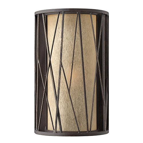 Fredrick Ramond FR41612ORB, Nest Glass Wall Sconce Lighting, 1LT, 75 Watt, Oil Rubbed Bronze ()