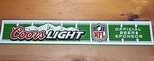 Coors Light NFL Rail Bar Mat Runner Drip Mat - Mat Nfl Runner