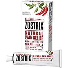 Zostrix Maximum Strength Natural Pain Relief Cream, Capsaicin Pain Reliever, Odor Free, 2 Ounce Tube