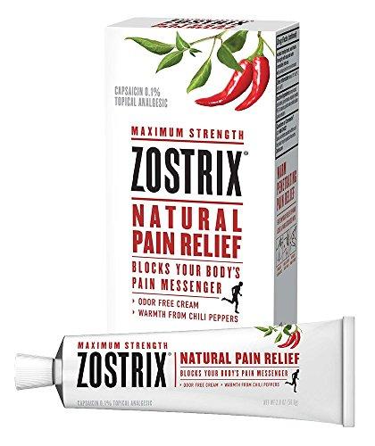 Zostrix Maximum Strength Arthritis Pain Relief Topical Analgesic Cream, Fast Acting Capsaicin Pain Reliever, Odor Free, 2 Ounce Tube