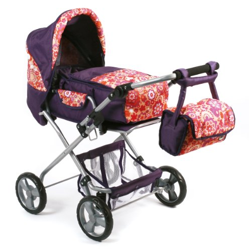 Bayer Chic 2000  586T69 - Kombi-Puppenwagen Bambina, Orange Plums