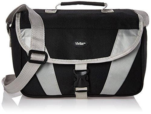 Vivitar VIV-DC-74 SLR Gadget Bag (Black/White) by Vivitar