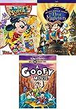 Super Hero Mickey Clubhouse Junior Adventure 3 Pack Disney Goofy Movie + The Three Musketeers Animated DVD cartoon blast!