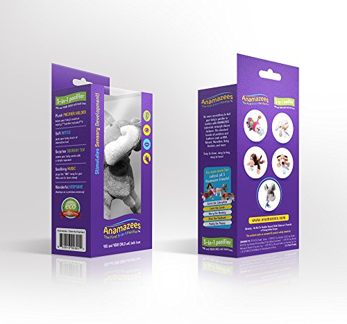 Anamazees, The First 5-in-1 Pacifier, Elsie the Elephant, 8