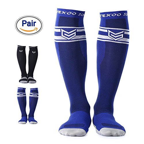 - TOITEHOO Compression Socks for Men & Women, Best Graduated Athletic Running Socks Fit for Running, Nurses, Shin Splints, Flight Travel, Maternity Pregnancy - Blue