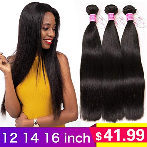9A Brazilian Straight Hair 3 Bundles Straight Virgin Brazilian Hair Straight Bundles Straight Human Hair Bundles Natural Color 300g 12 14 16 inch from CLAROLAIR
