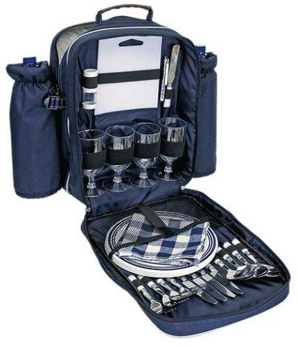 #Picknickrucksack für 4 Personen, mit Inhalt inkl.  Kühltasche#