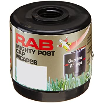 RAB Lighting MCAP2B Mighty Post Cap for 2  Pipe 2-3/8  sc 1 st  Amazon.com & RAB Lighting MCAP2B Mighty Post Cap for 2