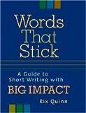 Words That Stick, Rix Quinn, 1580085768
