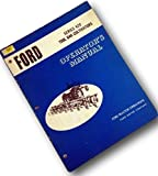 Ford Series 420 Tool Bar Cultivators Operators Owners Manual