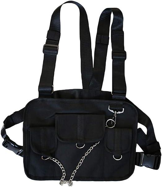 BovoYa Hip Hop Chest Bag Men Radio Chest Pack Package Paquete de ...