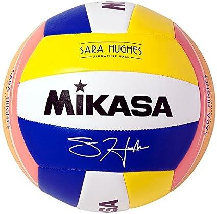 Mikasa Sara Hughes - Pelota de Voleibol, Color Azul/Amarillo ...