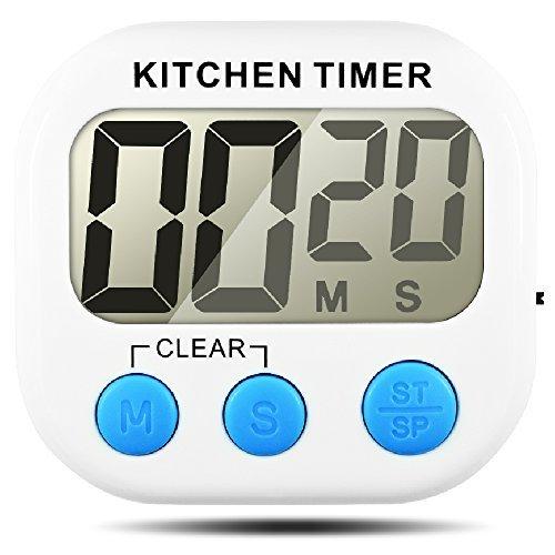 5 opinioni per Timer da cucina, Senhai conteggio up / down grande Display LCD elettronico Timer