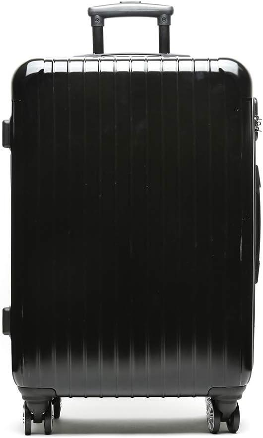 Misako – Maleta de Viaje Roma Mediana 24 X 45 X 68CM - 73L - 3,5KG en Color Negro | 4 Ruedas Giratorias Dobles | Maleta Rígida