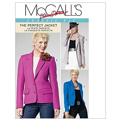 McCalls Patterns M6172 Misses Lined Jackets in 3 Lengths, Size FF (16-