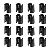 Alera Wire Shelving Shelf Lock Clips, Plastic, Black, Bundle of 16 Clips