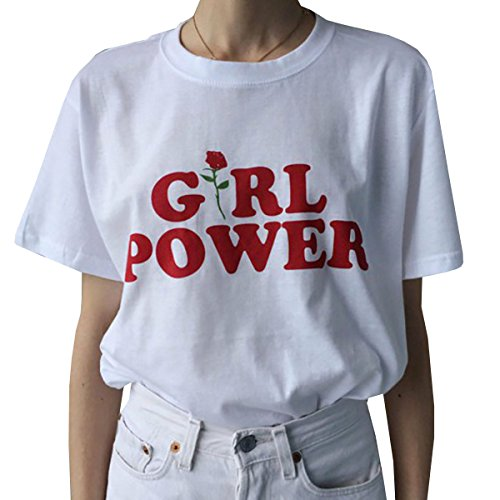 Farktop Girl Power T-Shirt Feminism Tee Girl Power Shirt 100% Cotton Unisex Graphic Cute Slogan T-Shirt - Feminism T-shirts