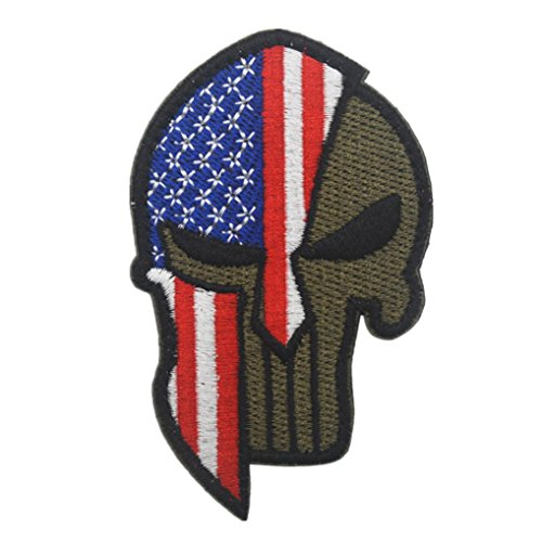 LiPing World Cup 2018 Theme -Flag Patch Tactical Military Morale Patch Flag Magic Stickers Badge Decoration Tactical Military Morale Patch Set (B, United States1)