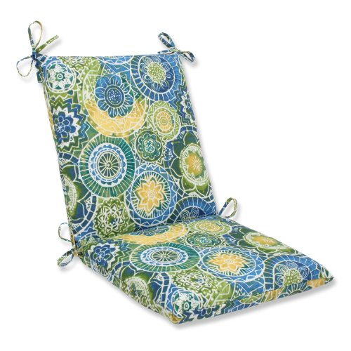 Pillow Perfect Outdoor Omnia Lagoon Squared Corners Chair Cushion