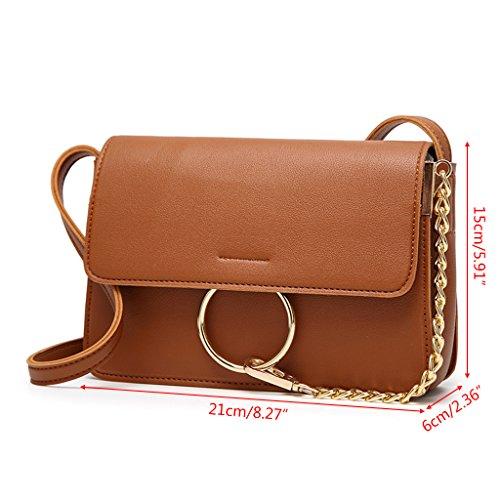 Bag Shoulder Purse Messenger Leather Handbag Hobo Gray Women Crossbody Shoresu Fashion White Faux wqvp6n