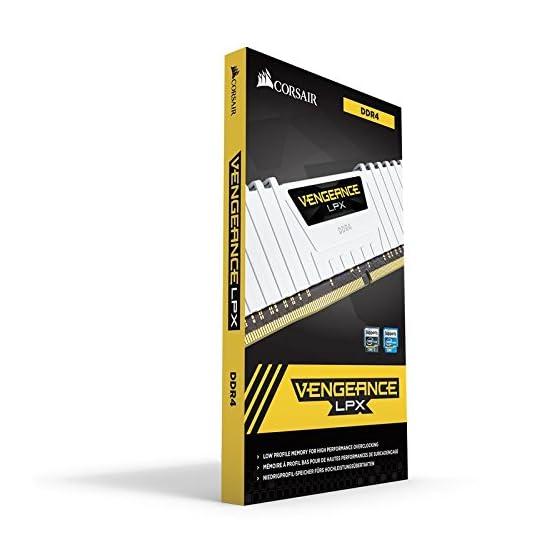 Corsair Vengeance LPX 16GB (2x8GB) DDR4 DRAM 3200MHz C16 Desktop Memory Kit – White (CMK16GX4M2B3200C16W)