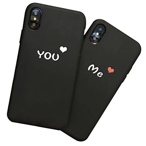 Funda iPhone X,Dosige iPhone X Carcasa con,Pareja Negro ...