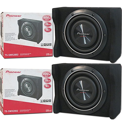 2 X Pioneer Ts Swx2002 Car Audio 8 Inch Shallow Mount Subwoofer Pre Loaded Enclosure 600W 8