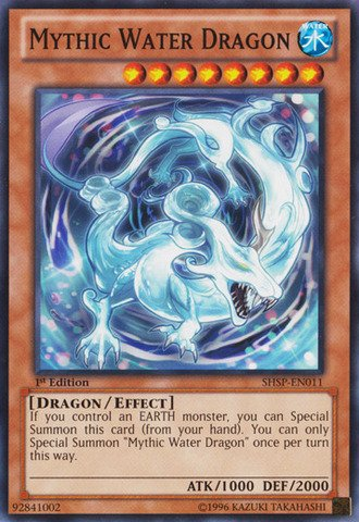 Deck Dragon Water - Yu-Gi-Oh! - Mythic Water Dragon (SHSP-EN011) - Shadow Specters - 1st Edition - Common